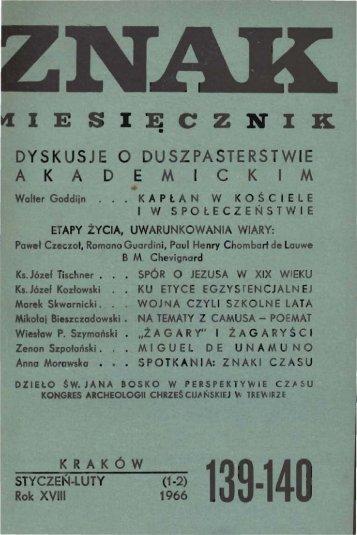 Nr 139-140, styczeń-luty 1966 - Znak