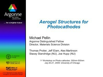 Aerogel Structures for Photocathodes - University of Chicago