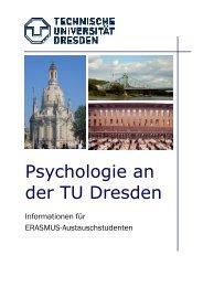 Psychologie an der TU Dresden - Fachrichtung Psychologie ...
