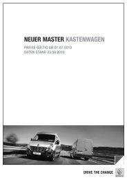 NEUER MASTER KASTENWAGEN - Renault