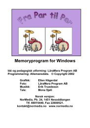 Memoryprogram for Windows - NorMedia AS