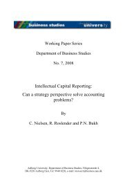 Problems in business reporting: - Department of Business and ...