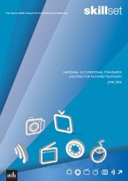 National Occupational Standards - Lighting for Film and ... - Skillset