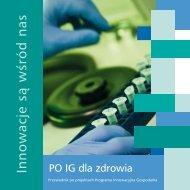 PO IG dla zdrowia - Program Innowacyjna Gospodarka