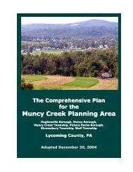 Muncy Creek Planning Area - Lycoming County Government