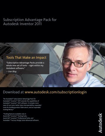 Subscription Advantage Pack for Autodesk Inventor 2011 Download ...