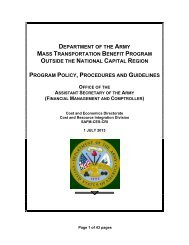 Army MTBP Policies, Procedures and Guidance - Army Financial ...