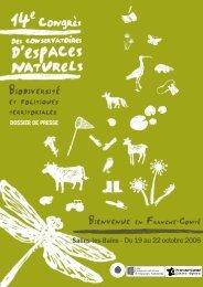 Dossier de presse congrès def.qxp - La maison de l'environnement ...