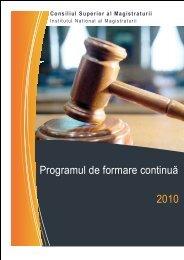 Program formare continua INM 2010.pdf - Institutul Naţional al ...