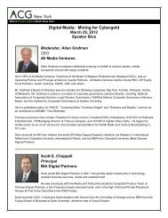 TMA/ACG Distressed Conference Panel - Association for Corporate ...