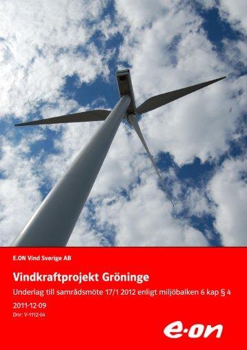 Vindkraftpark Örja - E-on