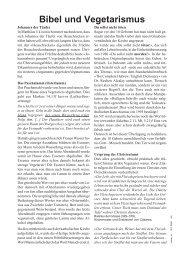 Bibel und Vegetarismus - Schweizerische Vereinigung für ...