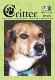 march 2011 vol. 4 no. 7 - Critter Magazine