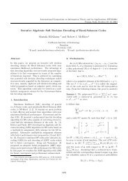 Iterative Algebraic Soft Decision Decoding of Reed ... - Caltech