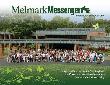 Messenger Summer 2008 (PDF, 2.5 MB) - Melmark
