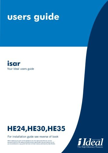 users guide isar - Ideal Heating