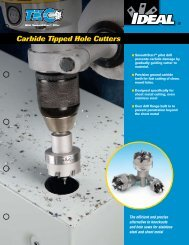 TKO™ Carbide Tipped Hole Cutters Brochure - Ideal Industries Inc.
