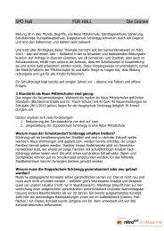 SPÖ Hall FÜR HALL Die Grünen