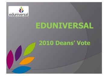 Download (860 kb .pdf) - Eduniversal World Convention