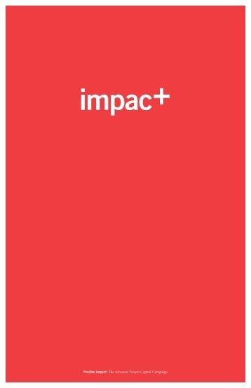 Positive Impact Campaign Brochure