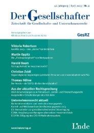 Der Gesellschafter 2013/2