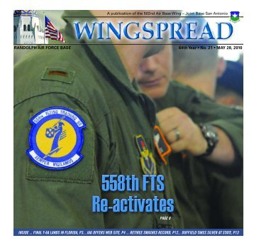 RANDOLPH AIR FORCE BASE 64th Year • No. 21 • MAY 28, 2010 ...