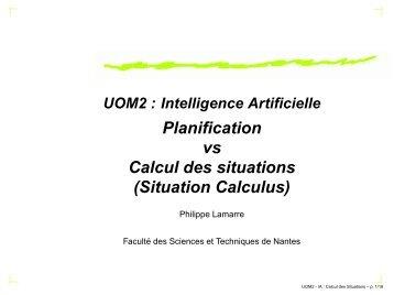 Planification dans le calcul des situation - Scourge.Fr
