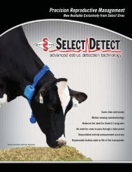 Precision Reproductive Management - Select Sires, Inc.