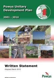 Powys Unitary Development Plan - Denbighshire Local ...