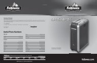 SB-125i/SB-125Ci Manual - Fellowes