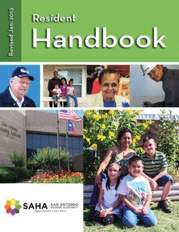 to view Resident Handbook - San Antonio Housing Authority