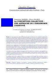 la conception collective : une approche de l'ergonomie cognitive