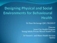 Community-based strategies for designing for mental health