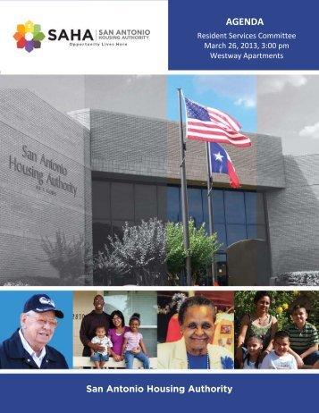 March, 26, 2013 - San Antonio Housing Authority