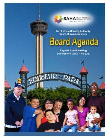 December 06, 2012 - San Antonio Housing Authority