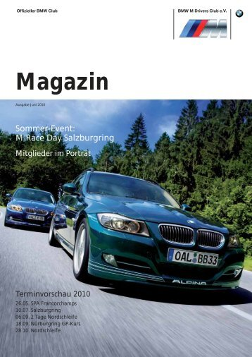 Magazin - BMW M Drivers Club eV