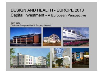 Capital Investment in European Health Infrastructure - the ...