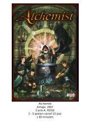 Alchemist Amigo, 2007 Carlo A. ROSSI 2 - 5 spelers ... - Forum Mortsel