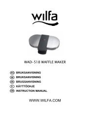 user instructions for the wad-518 waffle iron uk - Wilfa