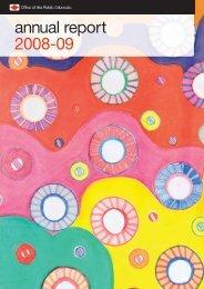 annual report 2008-09 - Office of the Public Advocate, Victoria ...