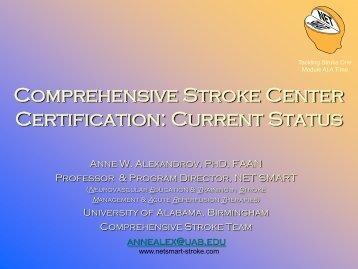 Current Status Anne Alexandrov, PhD, RN, CCRN, FAAN