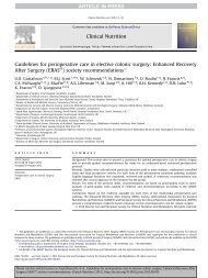 Guidelines for perioperative care in elective colonic ... - GrESPEN
