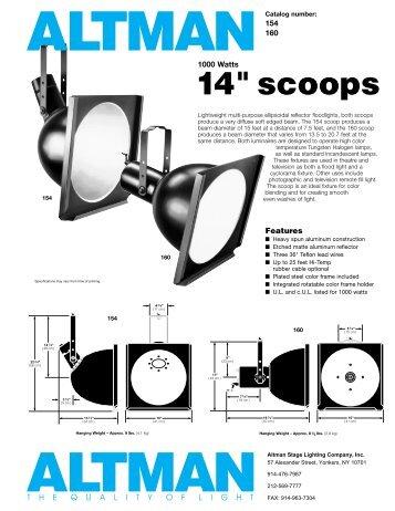 """14"""" scoops - Schell Scenic Studio, Inc."""
