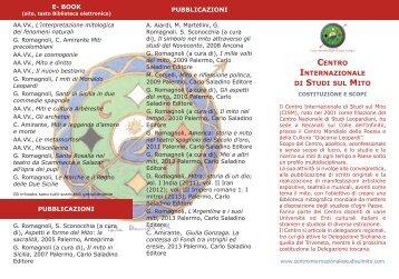 Depliant Attività - Centro Internazionale Studi sul Mito