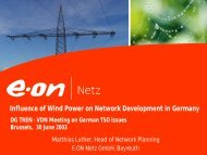 Influence of Wind Power on Network Development in Germany