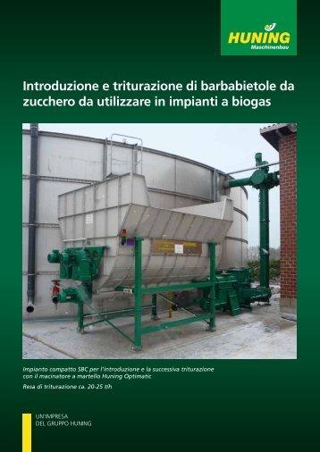Introduzione e triturazione di barbabietole da zucchero da utilizzare ...