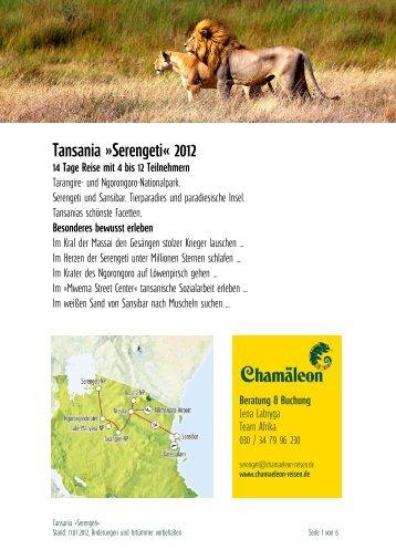 Tansania »serengeti« 2012