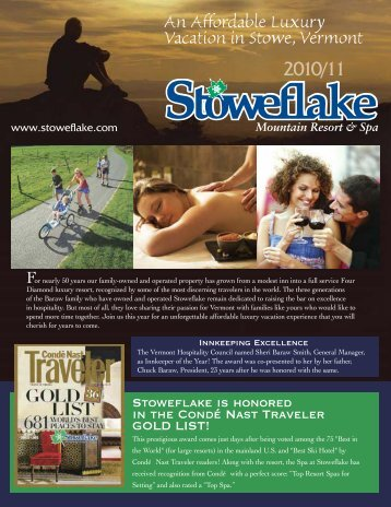 An Affordable Luxury Vacation in Stowe, Vermont - Stoweflake ...
