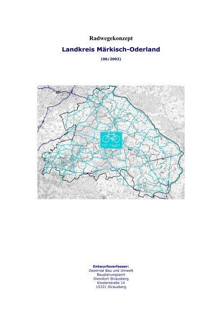 Radwegekonzept Landkreis Markisch Oderland Im Landkreis