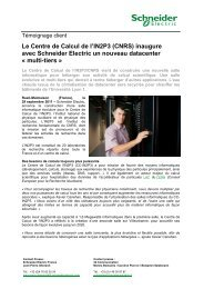 Schneider Electric - IN2P3 - 3d Communication